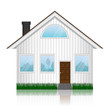 Vector illustration of house icon isolated on white background