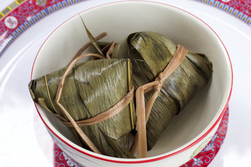 Rice Dumplings in Bamboo Leaves.