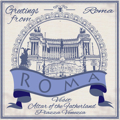 greetings from roma background
