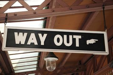 Way out sign, Moor Street railway station, Birmingham.
