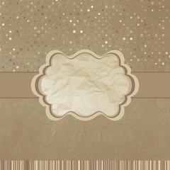 Retro template beidge stripes polka dot. EPS 8