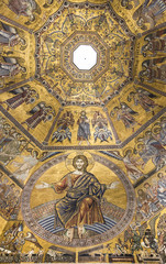 Ceiling painting of the Baptistery of San Giovanni. Florence