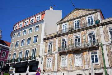 Tiled Building in Chiado District of Lisbon