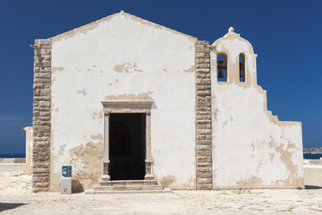 Nossa Senhora da Graca church in Sagres fortress, Portugal.
