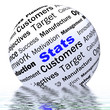 Stats Sphere Definition Displays Business Reports And Figures