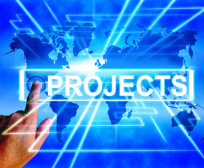 Projects Map Displays Worldwide or Internet Task or Activity