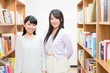 young asian women in the library