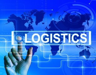 Logistics Map Displays Logistical Strategies and International P