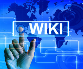 Wiki Map Displays Internet Information and Encyclopaedia Website