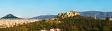 Panorama with Acropolis in Athens, Greece