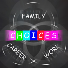 Words Displays Choices of Family Career and Work