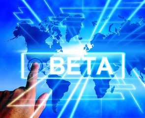 Beta Map Displays an Internet Trial or Demo Version
