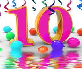Number Ten Party Displays Birthday Party Decorations And Adornme