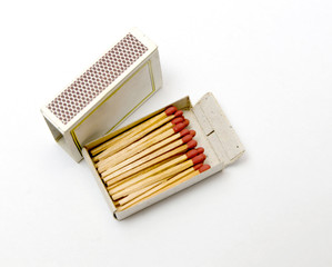 Match sticks on white background