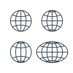globe earth world icons