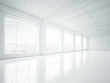 empty white interior - 65657911
