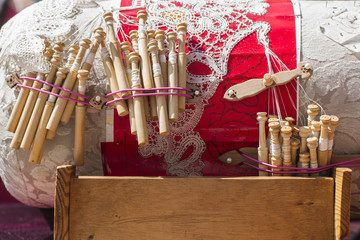 Material to Make Bobbin Lace.