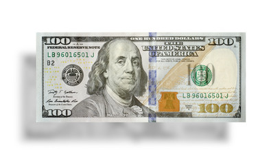 New 100 US dollar banknote 2013 edition.
