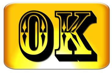 Bouton OK site web western