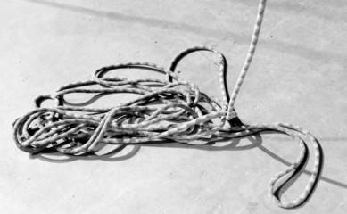 rope on a concrete floor
