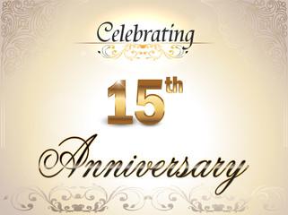 15 year anniversary golden label, 15th anniversary