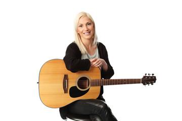 Attractive singer songwriter