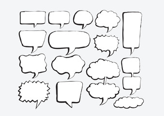 Speech Bubble Sketch hand drawn bubble speech
