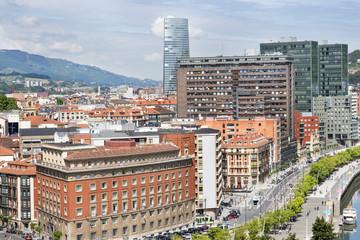 Architecture in Bilbao city, Bizkaia, Basque country, Spain.