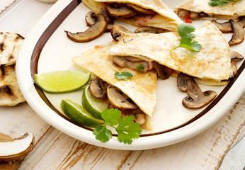 Quesadilla with mushrooms