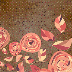 Мintage flower template, floral background. EPS 8