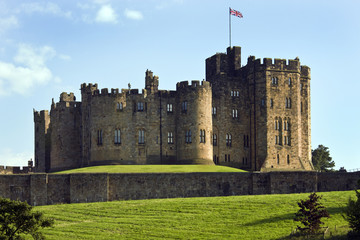 Alnwick Castle in the town of Alnwick in Northumberland - Englan