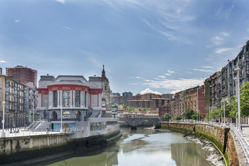 Views of Bilbao, Bizkaia, Basque country, Spain.
