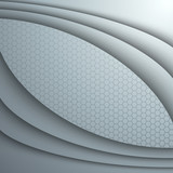 Abstract background with 3d  vector waves.