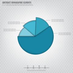 Infograpfics design element, blue absrtact pie chart