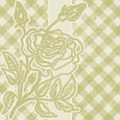Romantic elegant floral with vintage rose. EPS 8