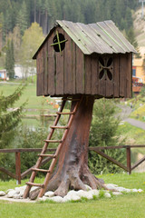 Interesting wooden hut for children