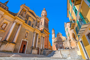 Basilica of Saint Michael Archange in Menton, France.