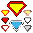 Diamonds shapes - logo superman