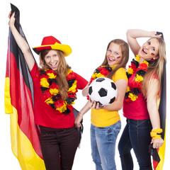 Weibliche Deutschland Fans