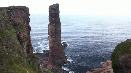 The sea stack, the Old Man of Hoy, Orkney Islands, Scotland