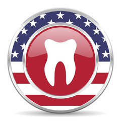tooth american icon, usa flag