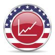 chart american icon, usa flag