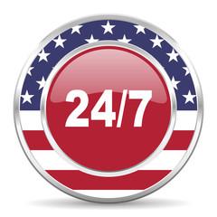 24/7 american icon, usa flag
