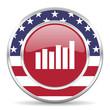graph american icon, usa flag