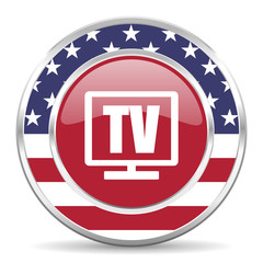 tv american icon, usa flag