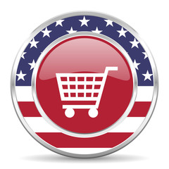 cart american icon, usa flag