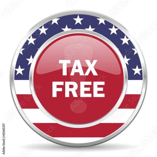 tax free american icon, usa flag