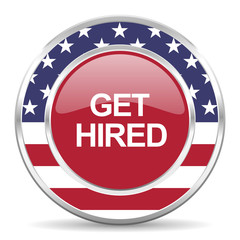 get hired american icon, usa flag