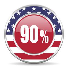 90 percent american icon, usa flag