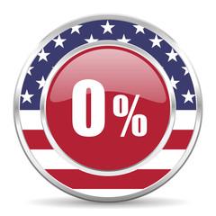 0 percent american icon, usa flag